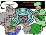 Baby Hippo Clip Art Pack