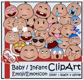 Baby/Infant Emoji/Emoticon Clip Art