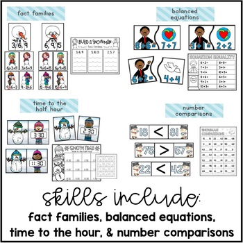 Baby It's Cold Outside {10 Math Centers for January}