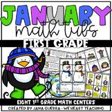 January Math Centers: FIRST GRADE (winter-themed)