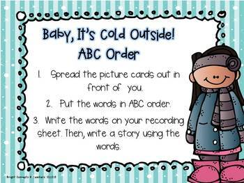 Baby, It's Cold Outside! {Literacy Activities}
