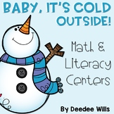 Winter Literacy and Math Stations-Baby It's Cold Outside