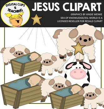 Baby Jesus Clipart {Digital Clips 4 Teaching}