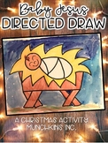 Baby Jesus Directed Drawing {A Christmas Craftivity}