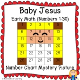 Baby Jesus Nativity Christmas Early Math (1-30) Number Chart Mystery Picture