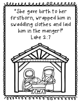 Baby Jesus Print and Go Pack - Christmas Bible Lesson