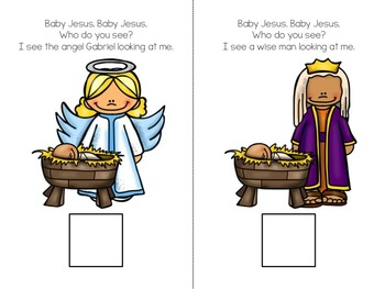 Baby Jesus Who Do You See? Interactive Vocabulary Book