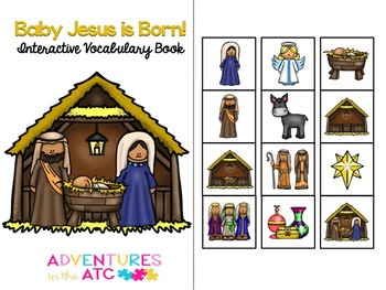 Baby Jesus is Born Interactive Vocabulary Book