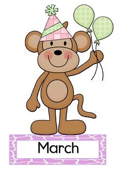 Baby Jungle Birthday Chart