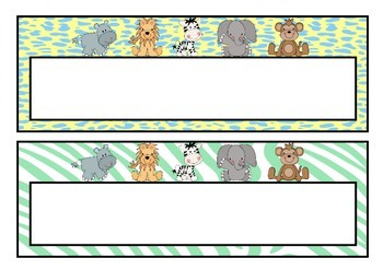 Baby Jungle Name Labels