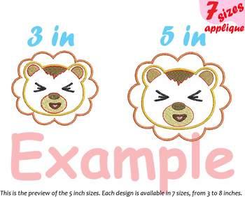 Baby Lion Applique Designs for Embroidery Japan cartoon cute Emoji kawaii  11a