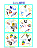 "Baby Matching Game Shout Out; 31 3"" cards, infant vocabulary, Spot the Match"