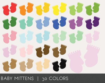 Baby Mittens Digital Clipart, Baby Mittens Graphics, Baby Mittens PNG