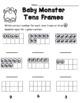 Baby Monster Tens Frame Worksheet