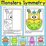 Baby Monsters Lines of Symmetry Activity - Fun Math Art Worksheets