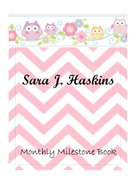 Baby Monthly Milestone Book