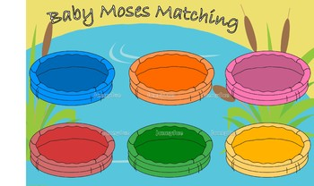 Baby Moses Match game for preschoolers