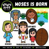 Baby Moses and Burning Bush Clip Art