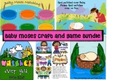 Baby Moses craft and game Bundle