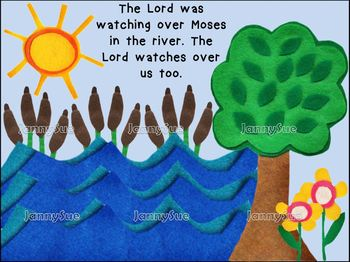 Baby Moses craft kit - Bible story craft for kids