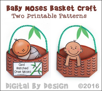 Baby Moses in an Envelope Basket Craft