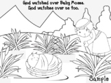 Baby Moses in the bulrushes craft- Bible Story craft and c