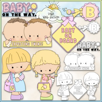 Baby On Board 1 - Commercial Use Clip Art & Black & White Images