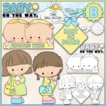 Baby On Board 2 - Commercial Use Clip Art & Black & White Images