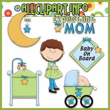 Baby On Board Clip Art - Alice Smith Clip Art