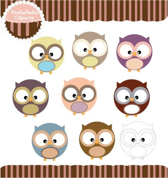 Baby Owls Clipart