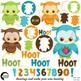 Baby Owls Clipart & Digital Papers Combo Bundle {Best Teacher Tools} AMB-1737