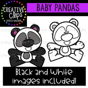 Baby Panda Clipart {Creative Clips Clipart}