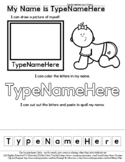 Baby - Part of Family - Name Practice Editable Sheet - #60