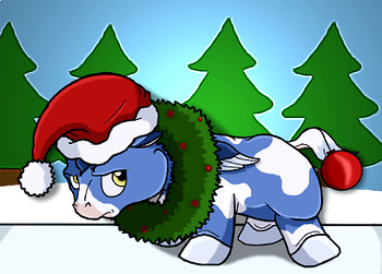 Baby Pegasus Christmas Photo Clipart Freebie