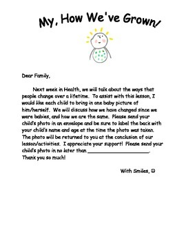 Baby Photo Letter