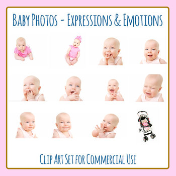 Baby Photos - Expressions and Emotions Photographic Clip Art Commercial Use