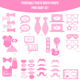 Baby Pink Dots Printable Photo Booth Prop Set