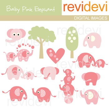 Baby Pink Elephant Clip art - Animal clipart