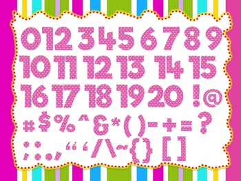 Baby Pink Theme 100 Alphabet Numbers And Symbols Clip Arts Polka
