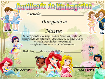 Baby Princess Achievement Award Complete Editable !! English & Spanish version