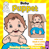 Baby Puppet | Printable Paper Bag Puppet | Baby Jesus in a Manger