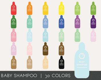 Baby Shampoo Digital Clipart, Baby Shampoo Graphics, Baby Shampoo PNG
