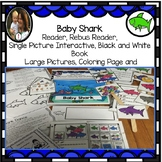 Baby Shark Circle Time Song,  Differentiated Book, Conversation Cards