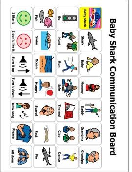 Baby Shark Communication Board