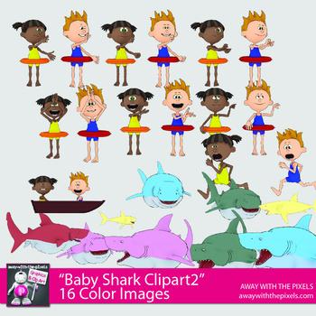 Baby Shark Dance Clipart For Teachers Kids And Shark Clip Art Set 1