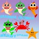 Baby Shark Family of Sharks Clipart