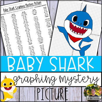 Baby Shark Graphing Mystery Picture