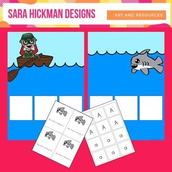Baby Shark Letter File Folder Game