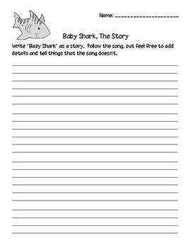 Baby Shark Literacy Activity Pack