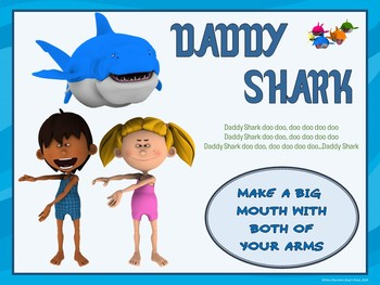 Baby Shark- Movement Activity Visuals and PowerPoint Show